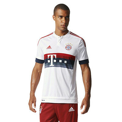 Adidas FC Bayern München Away Jersey Football Shirt Match Training Tee 2015/2016