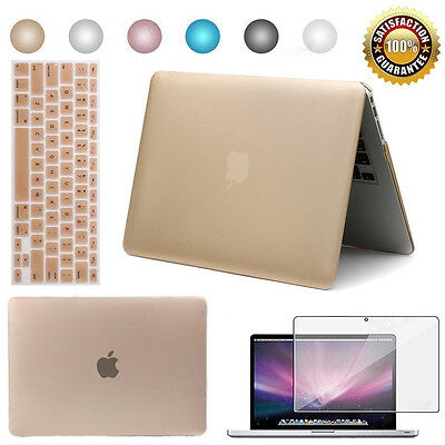 "Hard Case Shell Cover for MacBook Pro 13"" 15"" Air 11"" 12"" Laptop + 2 Protectors"