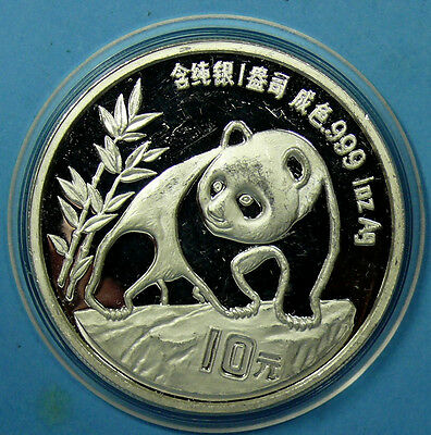 China 10 Yuan 1990 PANDA, 1 Oz Sliber