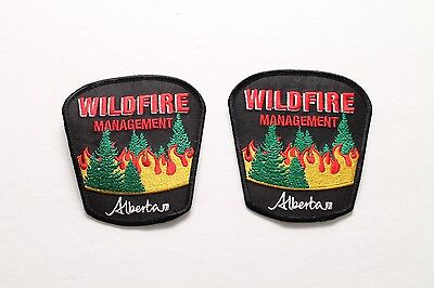 Alberta Wildfire Management Shoulder Patch Flash New - Set of 2 - Firefighting