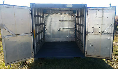 8ft (10ft) Shipping Container - Aluminium - Trailer transportable.