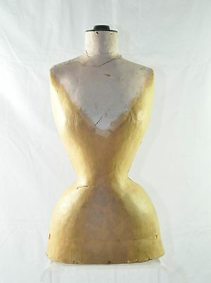 Rare Victorian Period Wasp Waisted Dress Form Mannequin C19Th