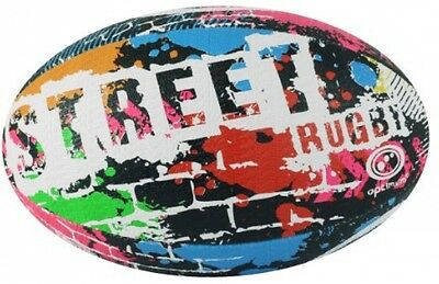 Optimum Street Rugby Ball - Black, Size 4 BRAND NEW FREE Shipping