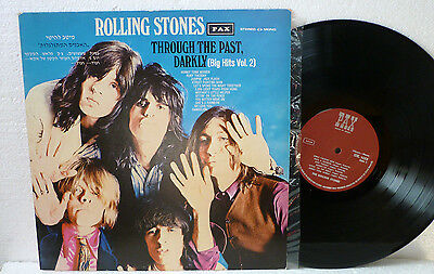 The Rolling Stones LP Through The Past, Darkly (Big Hits Vol.2) vinyl Israel PAX