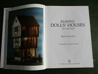 MAKING DOLL'S HOUSES by B Nickolls