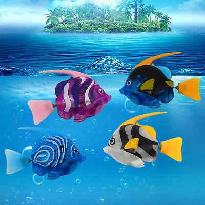 Fashion Swimming Activated Battery Powered Electronic Robo Fish Aquarium Decor