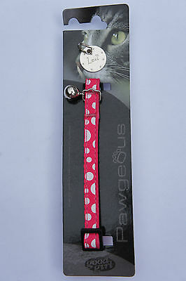 Cat Collar And Tag Cheap Sale Clearance Collar And Id Tag - Pink + Spots