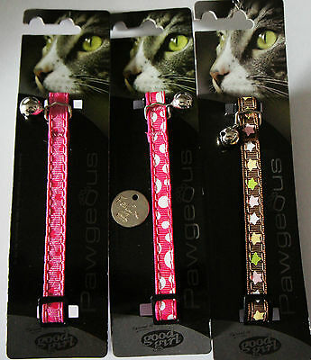 Cat Collar With Id Tag - Good Girl Pawgeous Special Clearance Price - Bargain!!!