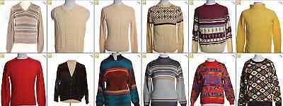 JOB LOT OF 12 VINTAGE MEN'S KNITS - Mix of Era's, styles and sizes (17948)*
