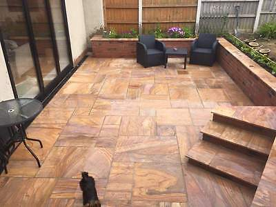 Rainbow Premium Indian Sandstone Patio Paving Slabs Stone 20.5m2 Patio Packs