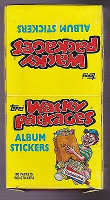 1986 Topps WACKY PACKAGES Album Stickers Box of Unopened Packs - 100 packs
