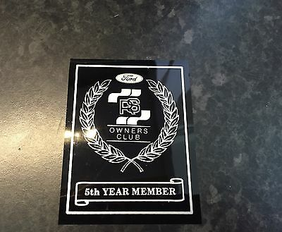 RSOC 5 Year Members Sticker, Ford, RS, Cosworth, Turbo