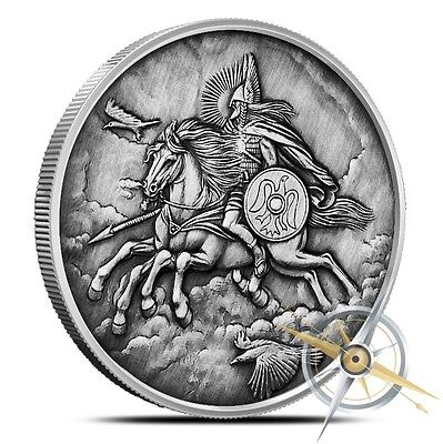 Nordic Creatures Series Sleipnir - The World Tree 1 Oz Silver Antiqued USA Round