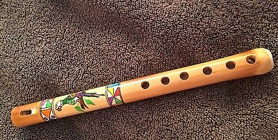 Small painted cane flute