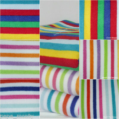 Polar fleece anti pill fabric Premium Quality soft material Multi Stripes Print
