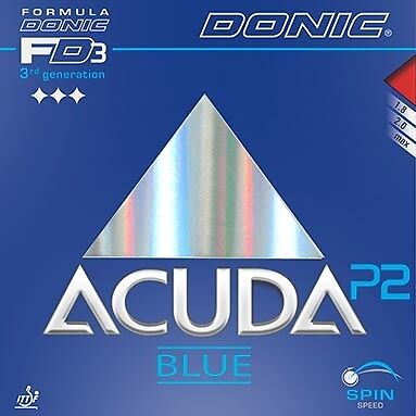 Donic Acuda Blue P2 red max - brand new but opened package - UK