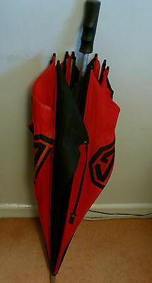 Mg Rover Genuine Umbrella 1980's Black And Red