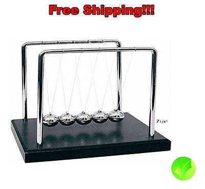 Cradle Balance Balls 7 1 4 Inch Newtons 2506 Motion New Steel Perpetual Machine