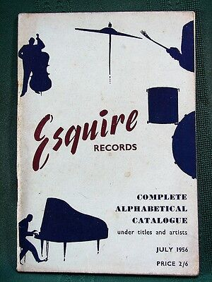 ESQUIRE Jazz Records - 1956 Catalog (UK)