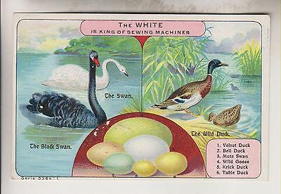 Victorian Trade Card - White Sewing Machine Co. - Cleveland Ohio