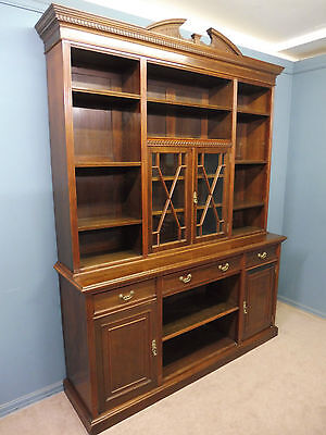 Large Antique Victorian Walnut Country House Library Bookcase Circa 1900