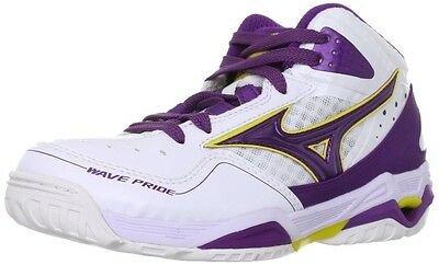 Mizuno WAVE PRIDE BB2 Women's Basketball Shoes 13KL350 White X Purple Japan New