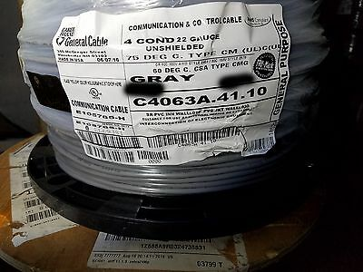 Carol C4063A 22/4C Unshielded Tin Copper Communication/Control Cable Gray/50ft