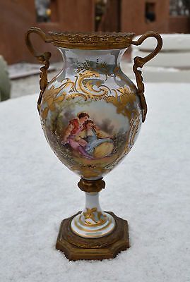 Reduced Xmas Sale Beautiful and Unique Sevres Hand Painted Porcelain Urn/Vase