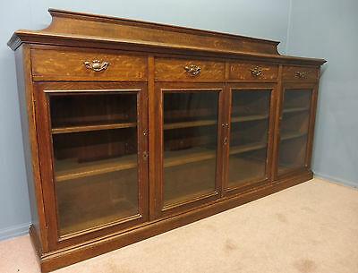 Antique Oak  Long Bookcase Circa 1900