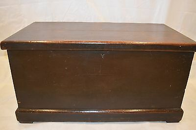 Victorian Blanket Box Chest Old trunk Wooden Pitch Pine storage coffee table