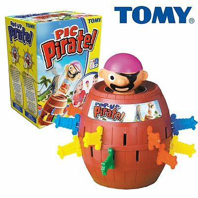 ORIGINAL TOMY Pop-Up Pirate Fun for Children Game Pirate Barrel Retro Mechanism