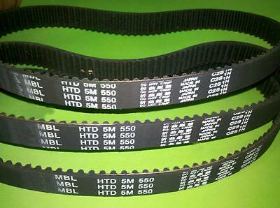 HTD 5M 580 Synchronous Wheel Close Loop Timing Pulley Belt 15/20/25mm Width