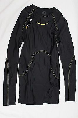 New Skins Men's A400 Compression Long Sleeve Top Base Layer $130 Medium