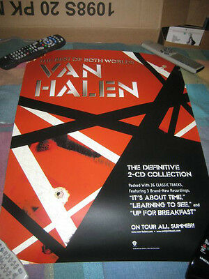 VAN HALEN-(the best of both worlds)-1 POSTER-18x24-NMINT-RARE