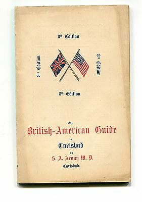 Vintage travel guide BRITISH AMERICAN GUIDE TO CARLSBAD 1905 Karlovy Vary Czech
