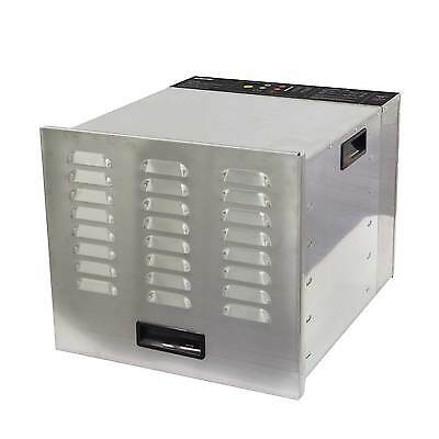 Commercial Food Dehydrator Stainless Steel 10 Tray BioChef - NEW