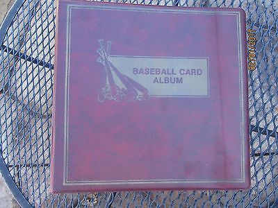 """Maroon Baseball Card 3 1/2"""" 3-Ring Binder Album w/ 40+ Ultra Pro Pages"""