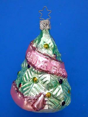 Inge Glas Baby Girl's First Christmas Blown Glass Christmas Tree Ornament Gift