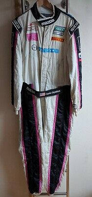 Original suit race used  - Charles Espenlaub  - Grand-Am - signed by Dempsey