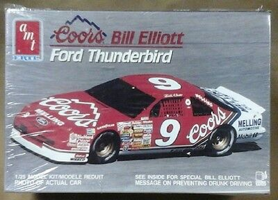 old AMT NASCAR model # 9 COORS Thunderbird Bill Elliot 6962
