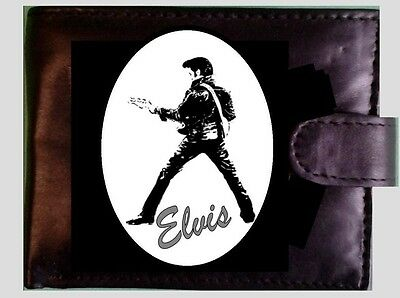 ELVIS   GENUINE REAL Leather Safety Wallet Credit Card  14 X COMPARTMENTS..