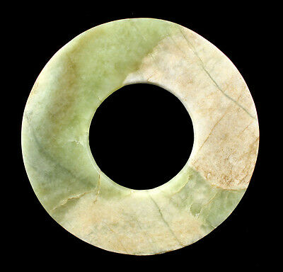 "Important Large 6""+ Early Chinese Jade Bi Disc"