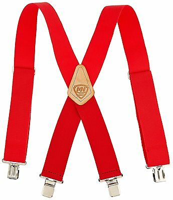 Ruler Suspenders Heavy Duty 2 in Wide One Size Fits All Nickel Plaited Tool Belt