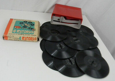 Vintage Carnival Record Player & 16 Records w/ Original Box Child's Toy Songs