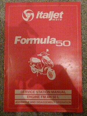 "ITALJET FORMULA 50 MOTORCYCLE ""ENGINE"" WORKSHOP MANUAL (Engine only)"