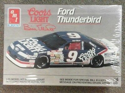 old AMT NASCAR model # 9 COORS LIGHT Thunderbird Bill Elliot 6740