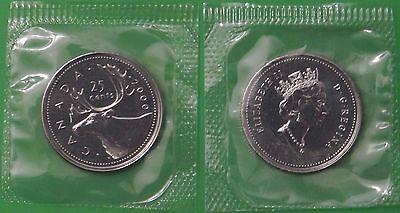 2000 Canada Quarter Sealed in Cellophane