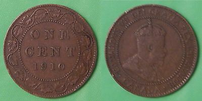 1910 Canada Large 1 Cent Graded as Very Fine