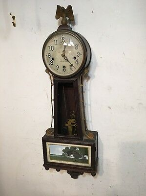 Rare New Haven Winsome ( Westminster ) Chime Banjo Clock