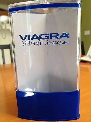 VIAGRA Exam Room Canister with Lid and More :-) / Drug Rep Gift
